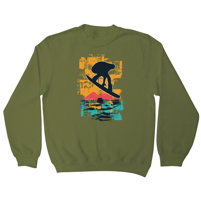 Sunset snowboarder sweatshirt - Graphic Gear
