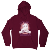 Book cat quote hoodie - Graphic Gear