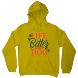 Dog life quote hoodie - Graphic Gear