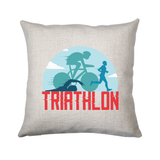 Triahtlon sports cushion cover pillowcase linen home decor - Graphic Gear