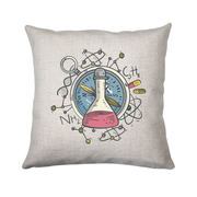 Science flask cushion cover pillowcase linen home decor - Graphic Gear