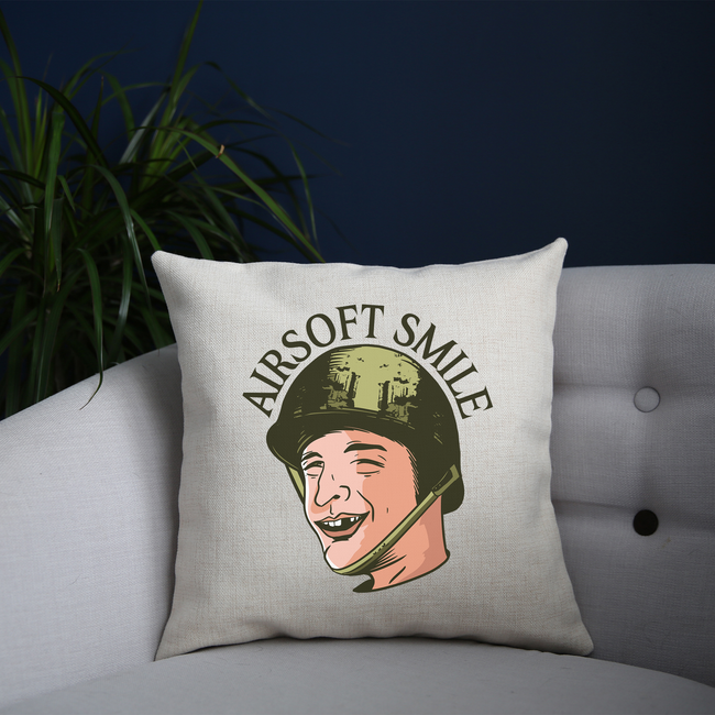 Funny toothless man airsoft cushion cover pillowcase linen home decor - Graphic Gear