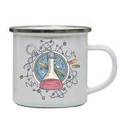 Science flask enamel camping mug outdoor cup colors - Graphic Gear