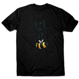 T-shirt design featuring a cute bee illustration with the words LET IT on top of it, forming LET IT BEE men's t-shirt - Graphic Gear