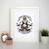 Funny biker text print poster wall art decor - Graphic Gear