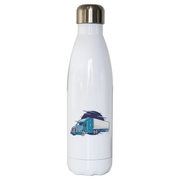 Semi truck illustration water bottle stainless steel reusable - Graphic Gear