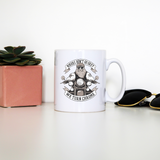 Funny biker text mug coffee tea cup