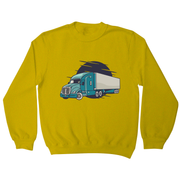 Semi truck illustration sweatshirt - Graphic Gear