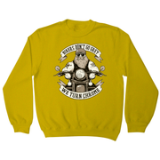 Funny biker text sweatshirt - Graphic Gear