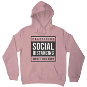 Social distancing text hoodie - Graphic Gear