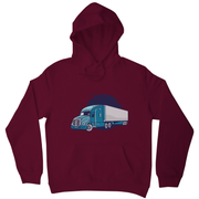 Semi truck illustration hoodie - Graphic Gear