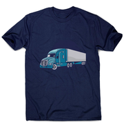 Semi truck illustration men's t-shirt - Graphic Gear