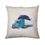Semi truck illustration cushion cover pillowcase linen home decor - Graphic Gear