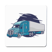 Semi truck illustration coaster drink mat - Graphic Gear