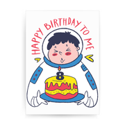 Birthday astronaut print poster wall art decor - Graphic Gear