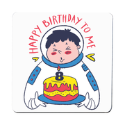 Birthday astronaut coaster drink mat - Graphic Gear