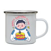 Birthday astronaut enamel camping mug outdoor cup colors - Graphic Gear