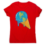 Melting earth women's t-shirt - Graphic Gear
