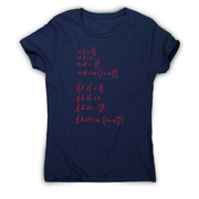 Physics formula women's t-shirt - Graphic Gear