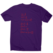 Physics formula men's t-shirt - Graphic Gear