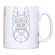 German shepherd polygonal mug coffee tea cup