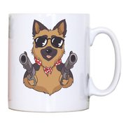 German shepherd guns mug coffee tea cup