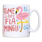 Time to fla mingle mug coffee tea cup