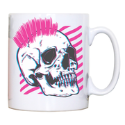 Punk skull glitch mug coffee tea cup