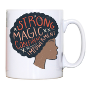 Proud afro woman quote mug coffee tea cup