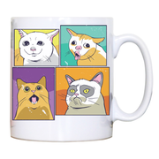 Meme cats mug coffee tea cup