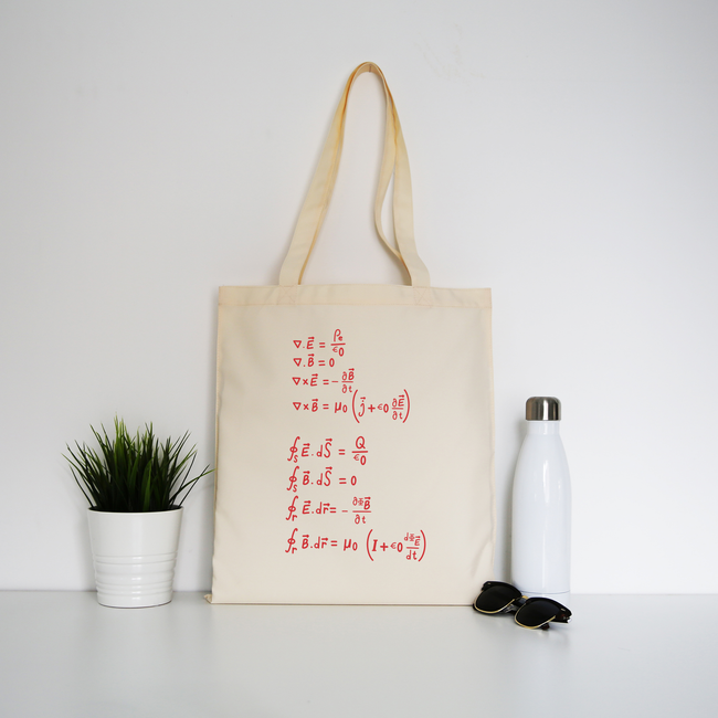 Physics formula tote bag canvas shopping - Graphic Gear