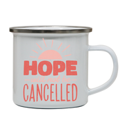 Hope quote enamel camping mug outdoor cup colors