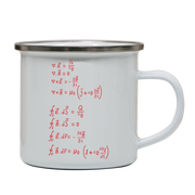 Physics formula enamel camping mug outdoor cup colors