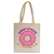 Donut stress tote bag canvas shopping