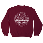 Night mountain landscape sweatshirt - Graphic Gear