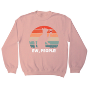 Drinking cat sunset sweatshirt - Graphic Gear