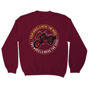 Two wheels quote sweatshirt - Graphic Gear