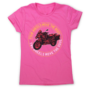 Two wheels quote women's t-shirt - Graphic Gear