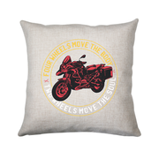 Two wheels quote cushion cover pillowcase linen home decor