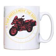 Two wheels quote mug coffee tea cup