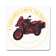 Two wheels quote coaster drink mat