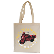 Two wheels quote tote bag canvas shopping - Graphic Gear