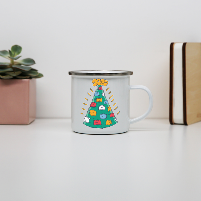 Christmasks enamel camping mug outdoor cup colors - Graphic Gear