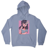 Flower anime girl hoodie - Graphic Gear