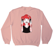 Tattooed girl sweatshirt - Graphic Gear