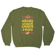 Anime amp video games sweatshirt - Graphic Gear