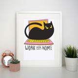 Home office cat print poster wall art decor - Graphic Gear