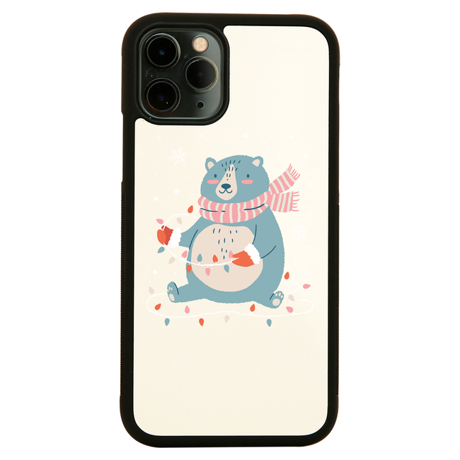 Cute christmas bear iPhone case cover 11 11Pro Max XS XR X - Graphic Gear