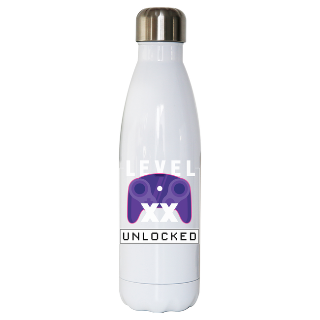 Level xx unlocked water bottle stainless steel reusable - Graphic Gear