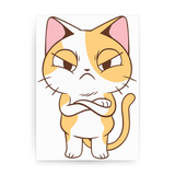 Angry kitten print poster wall art decor - Graphic Gear